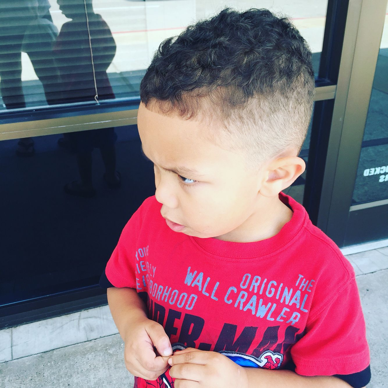 Mixed Race Hair Styles Male: My 4 Year Old Boys New Hair Cute. Fade And Edge. Mixed Boy
