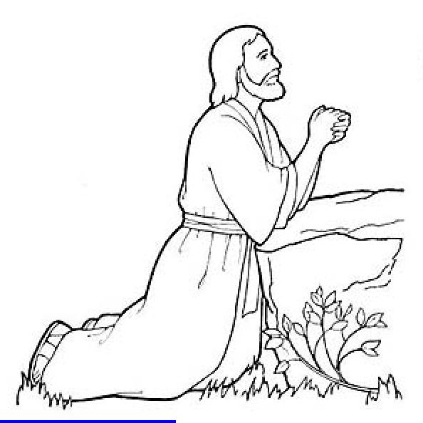 jesus praying in gethsemene | LDS | Bible coloring pages ...