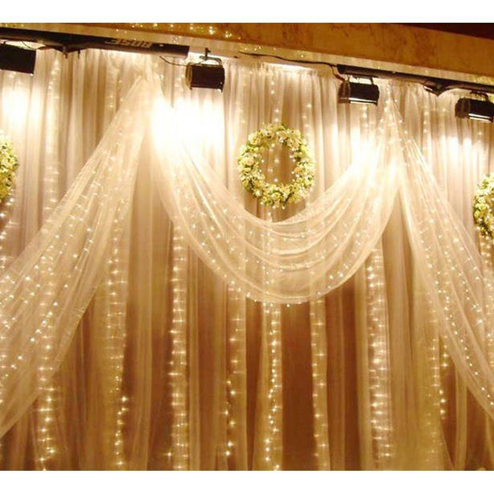 Amazon Com Liida Curtain Lights Led Twinkle Lights 9 8 X 9 8ft