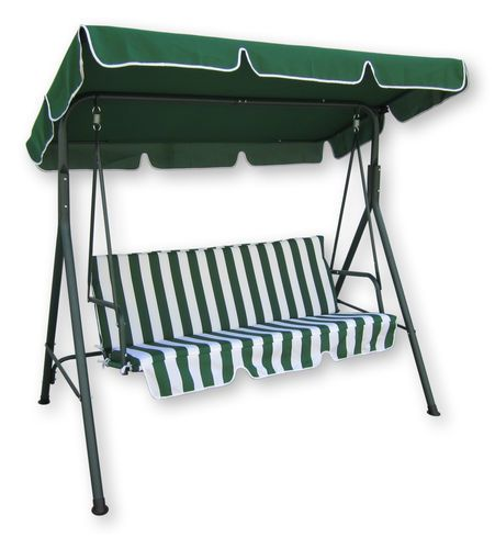 Outdoor Garden Swinging 3 Seater Bench Swing Cushioned 400 x 300