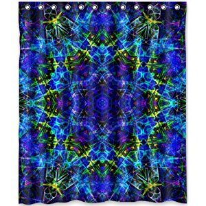 Cool Design Trippy Psychedelic Shower Curtain 60 W X 72 H