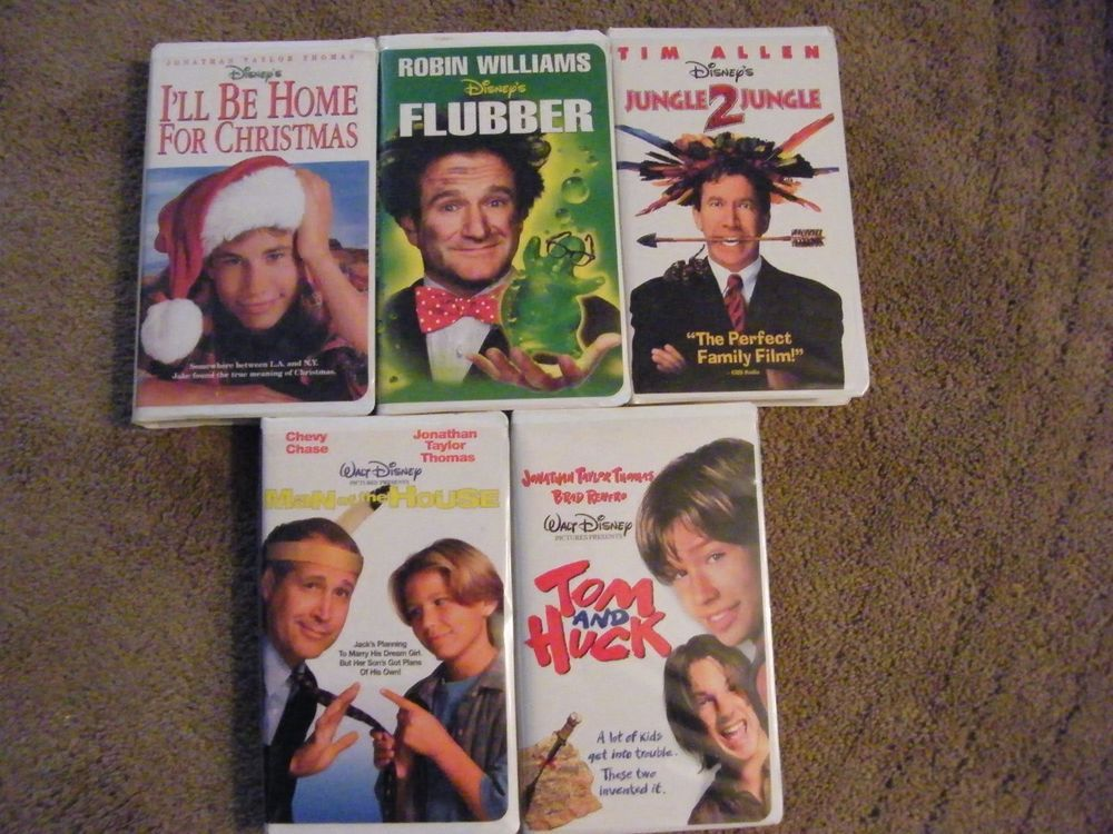 Ill Be Home For Christmas Vhs.Lot 5 Vtg Disney Vhs Tapes Kids Family Movies Jungle 2