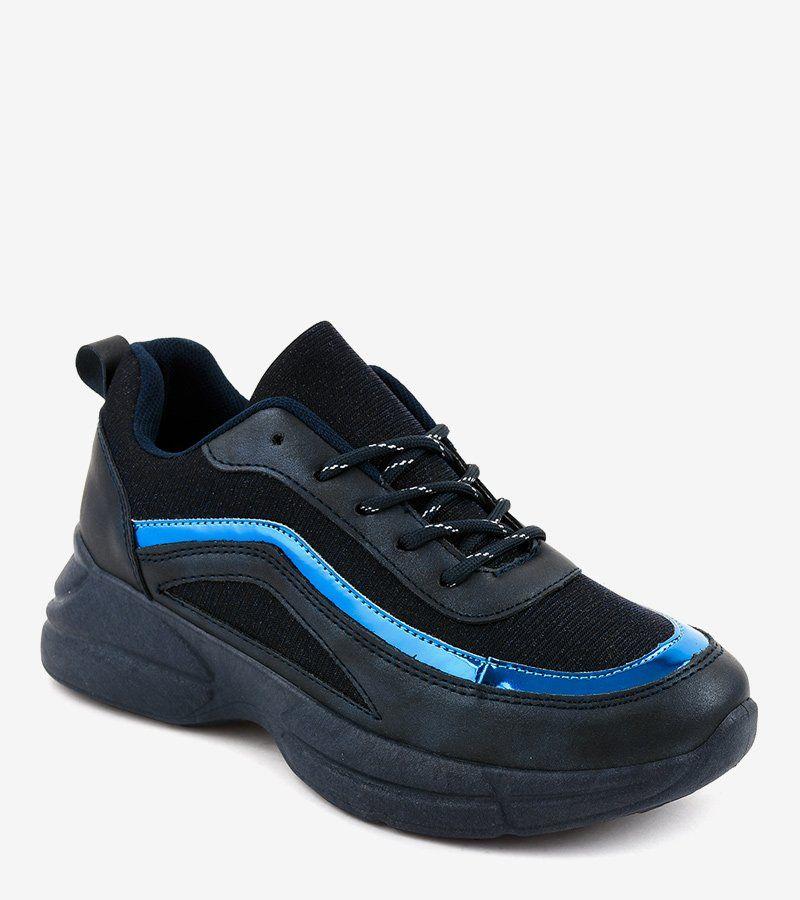 Granatowe Obuwie Sportowe Sneakersy By 082 All Black Sneakers Puma Sneaker Shoes