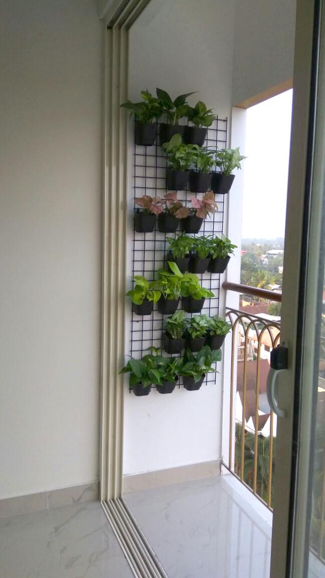 balcony garden grill design