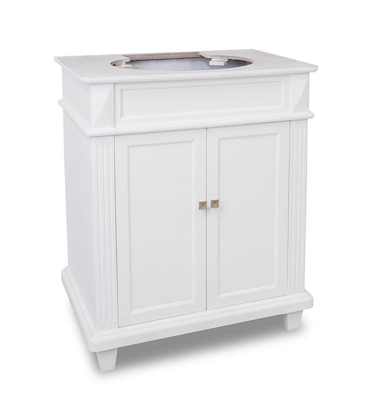 Elements 30 Inch Douglas White Bathroom Vanity Cabinet  Small Gorgeous 30 Bathroom Vanity With Drawers Design Ideas