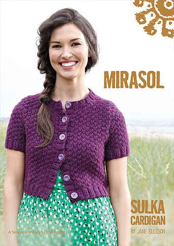 The Sulka Cardigan is a cute, cropped sweater which looks equally good paired with a dress or jeans. Knit in Mirasol Sulka, a luxurious merino/alpaca/silk blend, this cardigan will make a great garment for transitional seasons. #freepattern #knitting