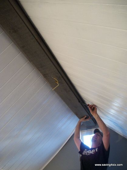 How to build a box beam aka fake ceiling beam beams for Box beam ceiling