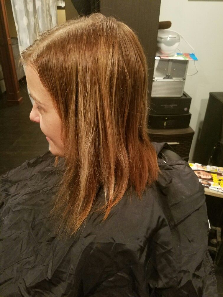 In for a A line bob haircut.....