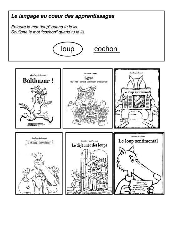 Le Loup Est Revenu Maternelle : revenu, maternelle, Pierre, Coloriage, Loup,, Sentimental