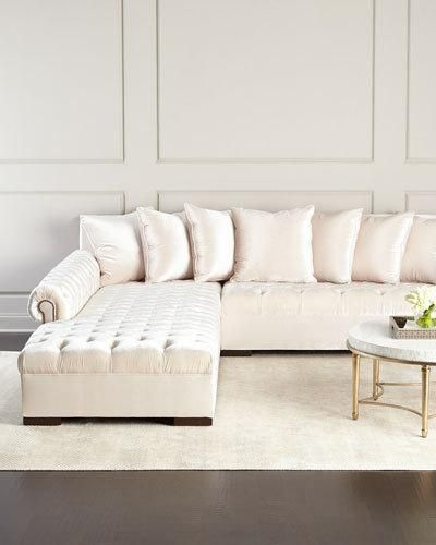 H8N45 Haute House Divine Tufted Left Chaise Sectional