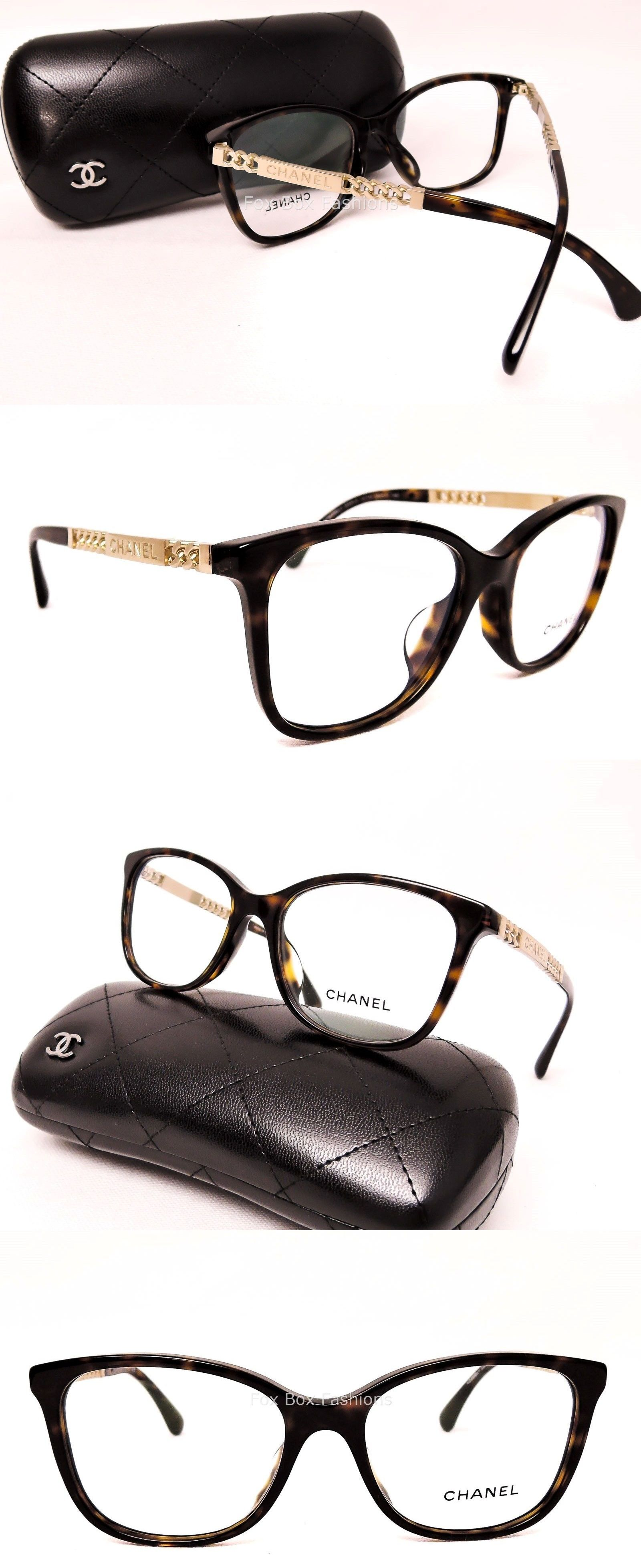 a7fbf185bbacc Eyeglass Frames  Chanel 3343-A 714 Eyeglasses Optical Frames Glasses  Tortoise Gold Chain 54Mm -  BUY IT NOW ONLY   148.95 on eBay!