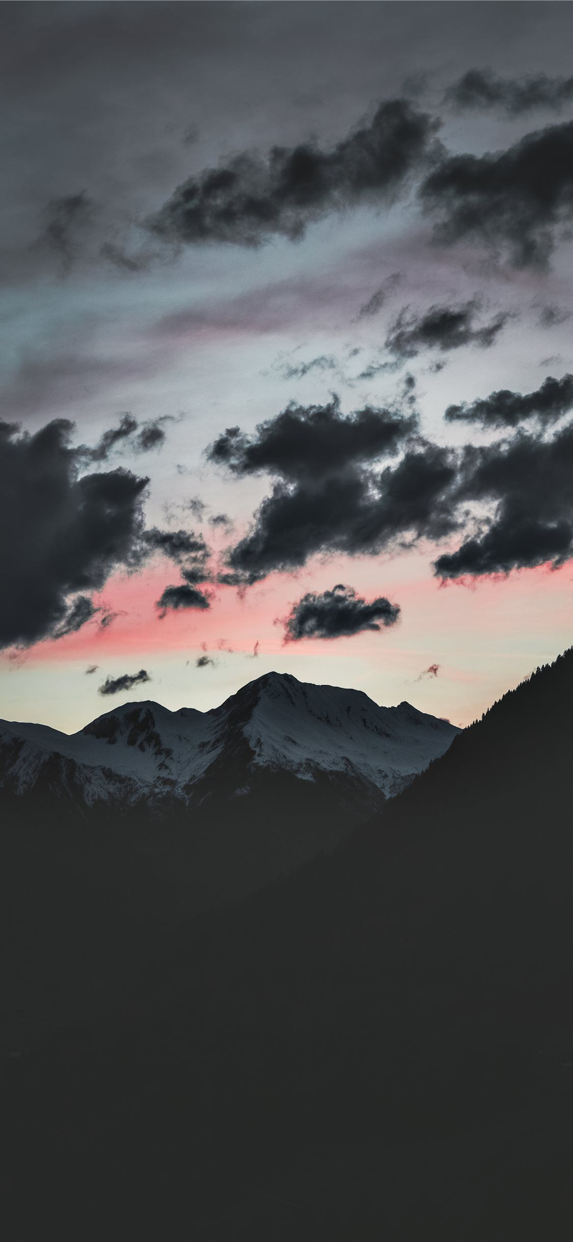 Silhouette Of Mountain Under Cloudy Sky In 2020 Sky Aesthetic Cloudy Sky