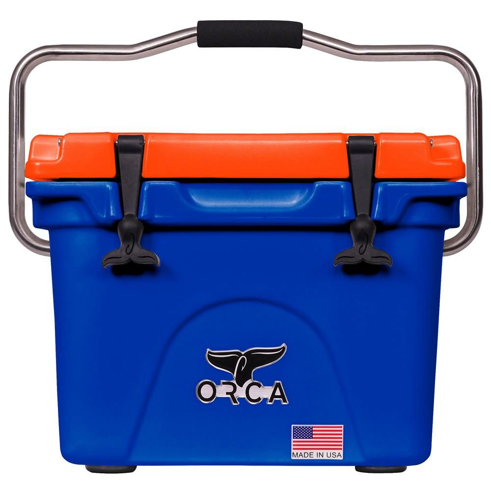 Orca U Of Florida 20 Qt Blue Orange Cooler Orcbl Or020ufl The Home Depot In 2021 Orca Cooler Detroit Lions Orca