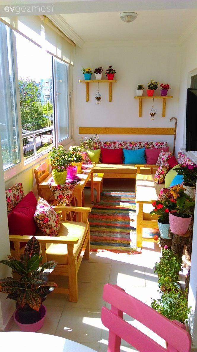 Balkonda bir minik cennet y lmaz beyin el eme i dekoru dekorasyon balkon garten ve blumen - Bundesverband wintergarten ev ...