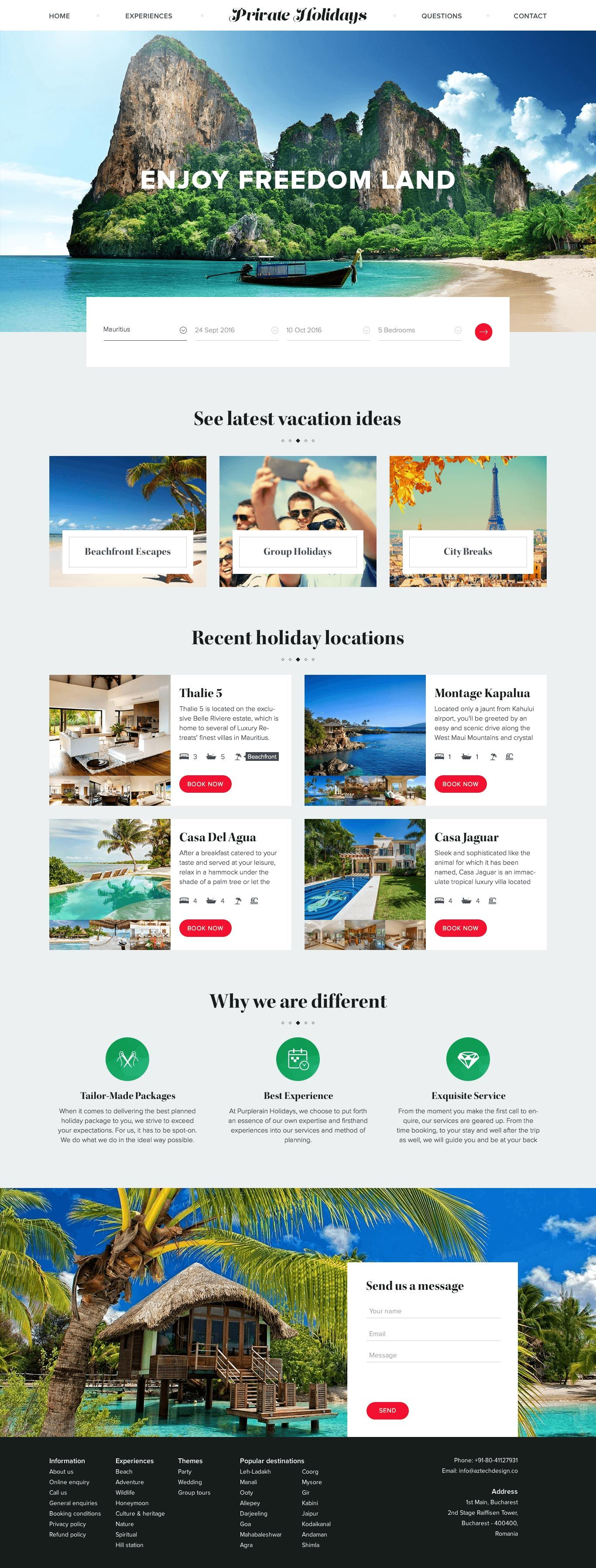 Travel Landing Page - Free PSD More PSD: 72pxdesigns | Website ...