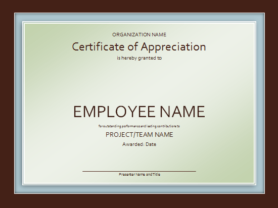 Appreciation Certificate Format For Employees Demirediffusion