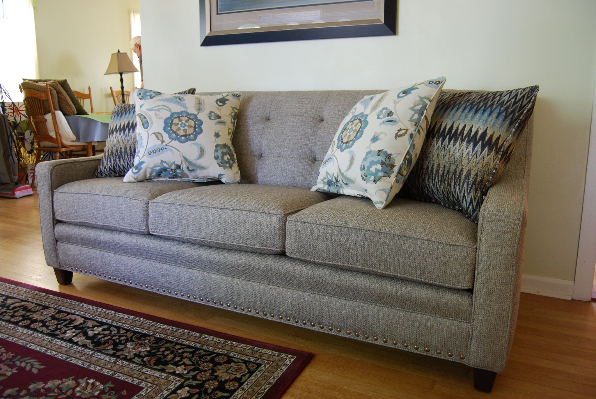 203 Sofa By Smith Brothers Chair Fabric Sofa Tufted Sofa