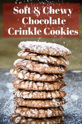 Amazing Chocolate Crinkle Cookies    - Dessert - #amazing #Chocolate #Cookies #Crinkle #Dessert #chocolatecrinklecookies