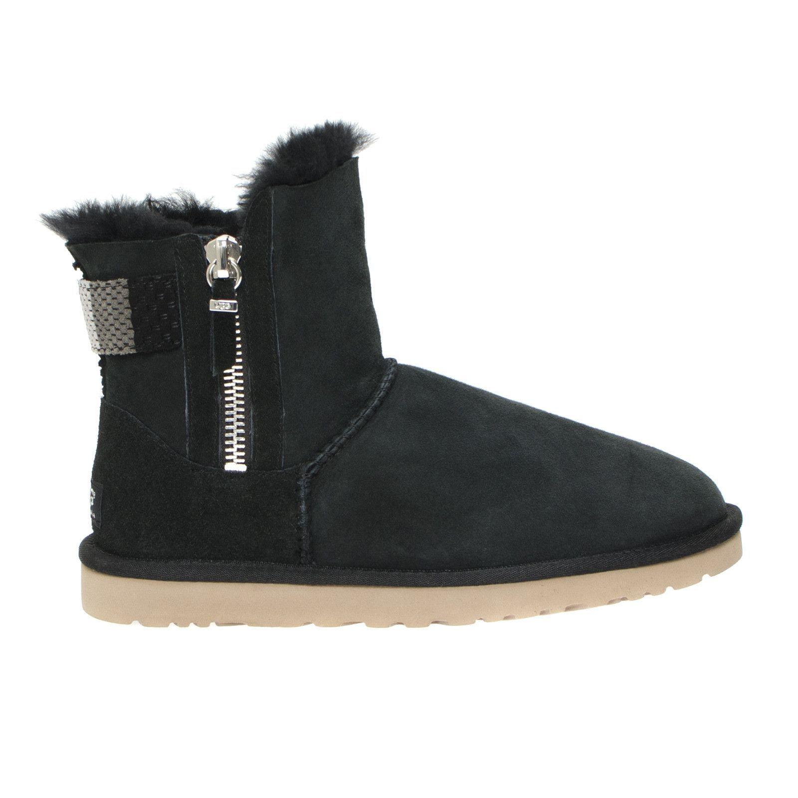 UGG AZTEK BLACK BOOTS - WOMEN'S