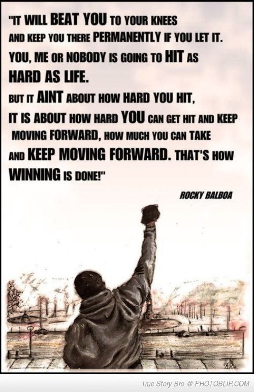 Rocky Quote Famous Quoterocky Balboa  Good Words  Pinterest  Rocky Balboa .