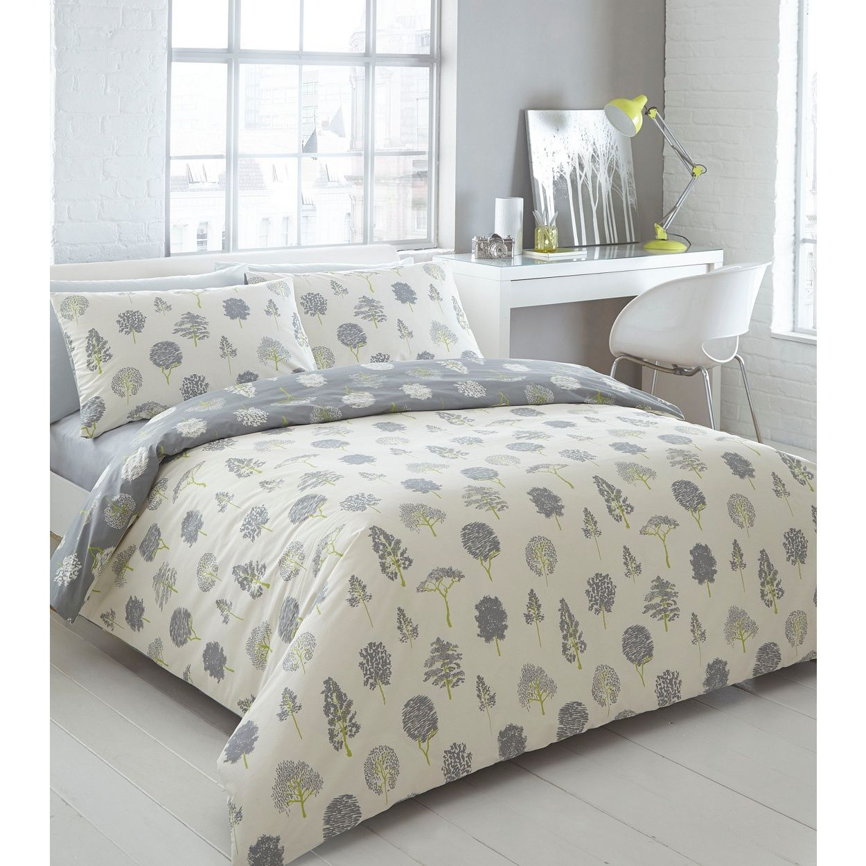 Tree print duvet cover sweetgalas ben de lisi home designer cream tree print bedding set at gumiabroncs Image collections