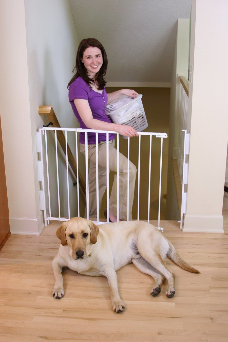 Details About Regalo Extra Tall Top Of Stairs Gate Mounting Kit White Baby  Child Safty At Home