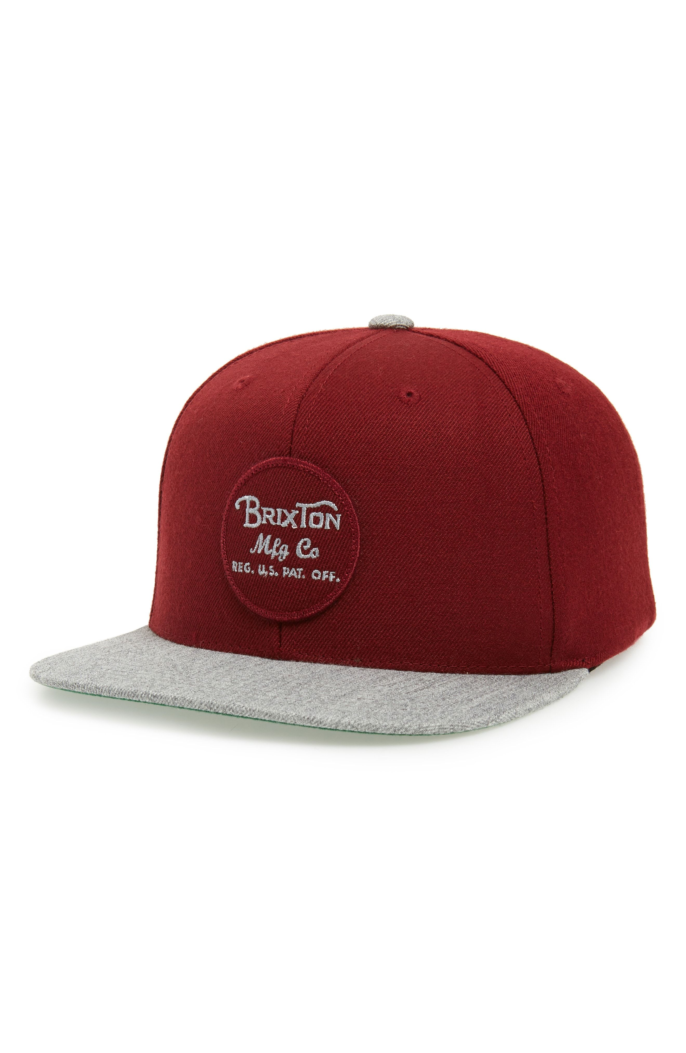 3a930cb004104 ... norway brixton wheeler snapback cap red. brixton brixton snapback cap  b5e52 8a211