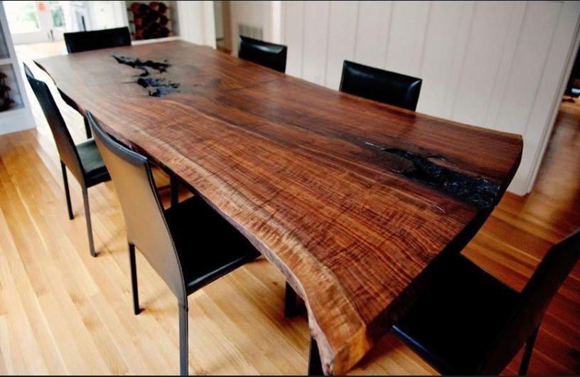 Home Decor Ideas Interiors Slab Dining Tables Wood Slab Dining Table Wood Slab Dining