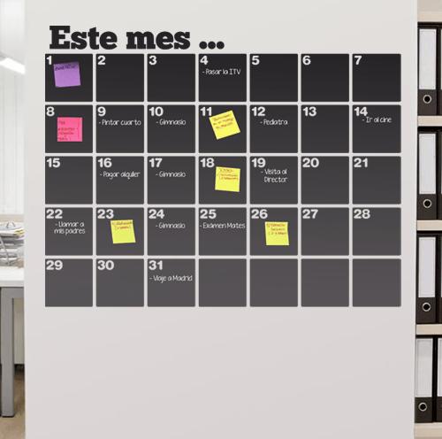 Vinilos decorativos pizarra calendario organizador vinilos pinterest pizarra - Pizarra calendario ...