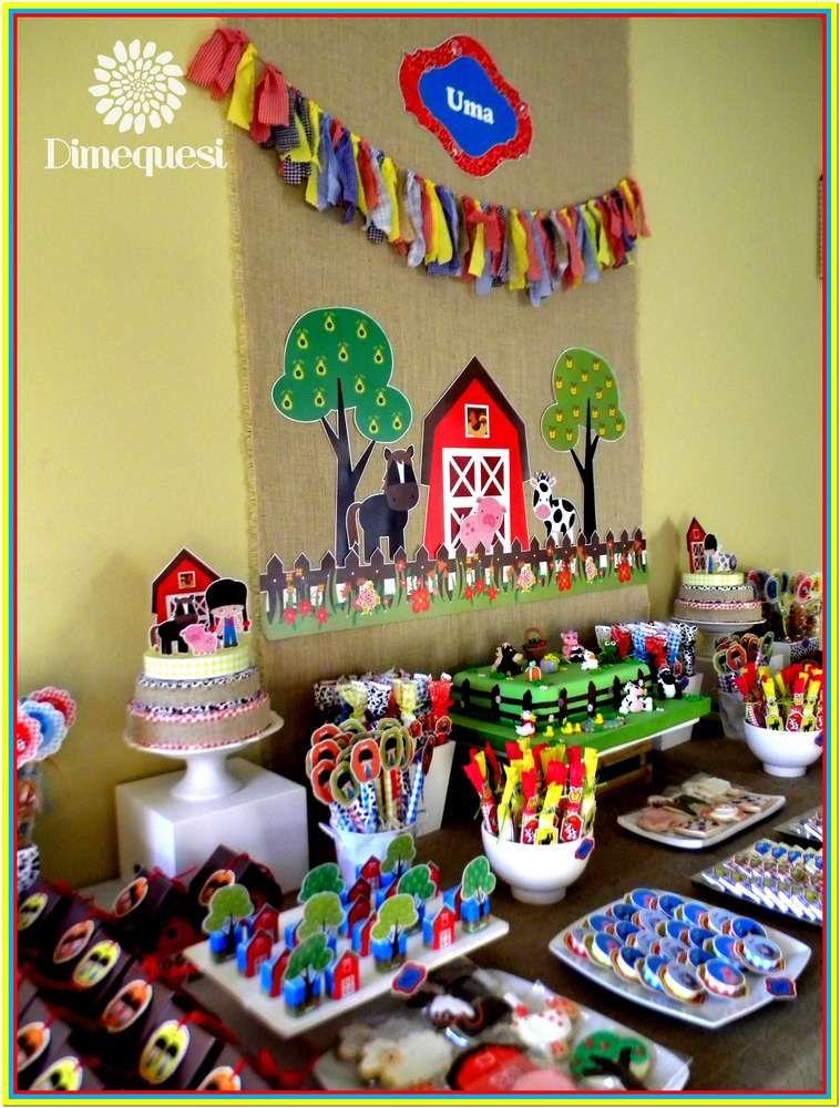 Farm Birthday Party Ideas Cumple Enzo Fiesta De Granja Fiestas