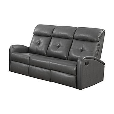 Monarch Specialties Reclining Sofa In Bonded Leather For Sale Https Sectionalsofas Review Mo Leather Reclining Loveseat Reclining Sofa Leather Reclining Sofa