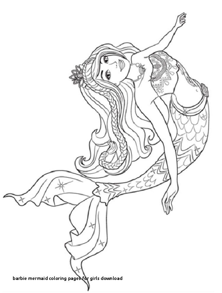 Barbie Mermaid Coloring Pages for