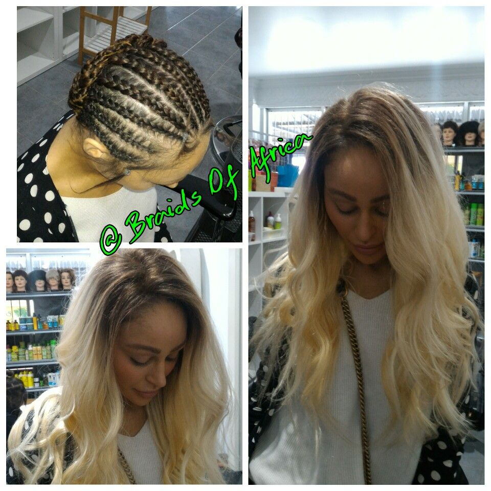 Full Head Ombre 6 613 Weave Hair Extensions No Leave Out Or Glue