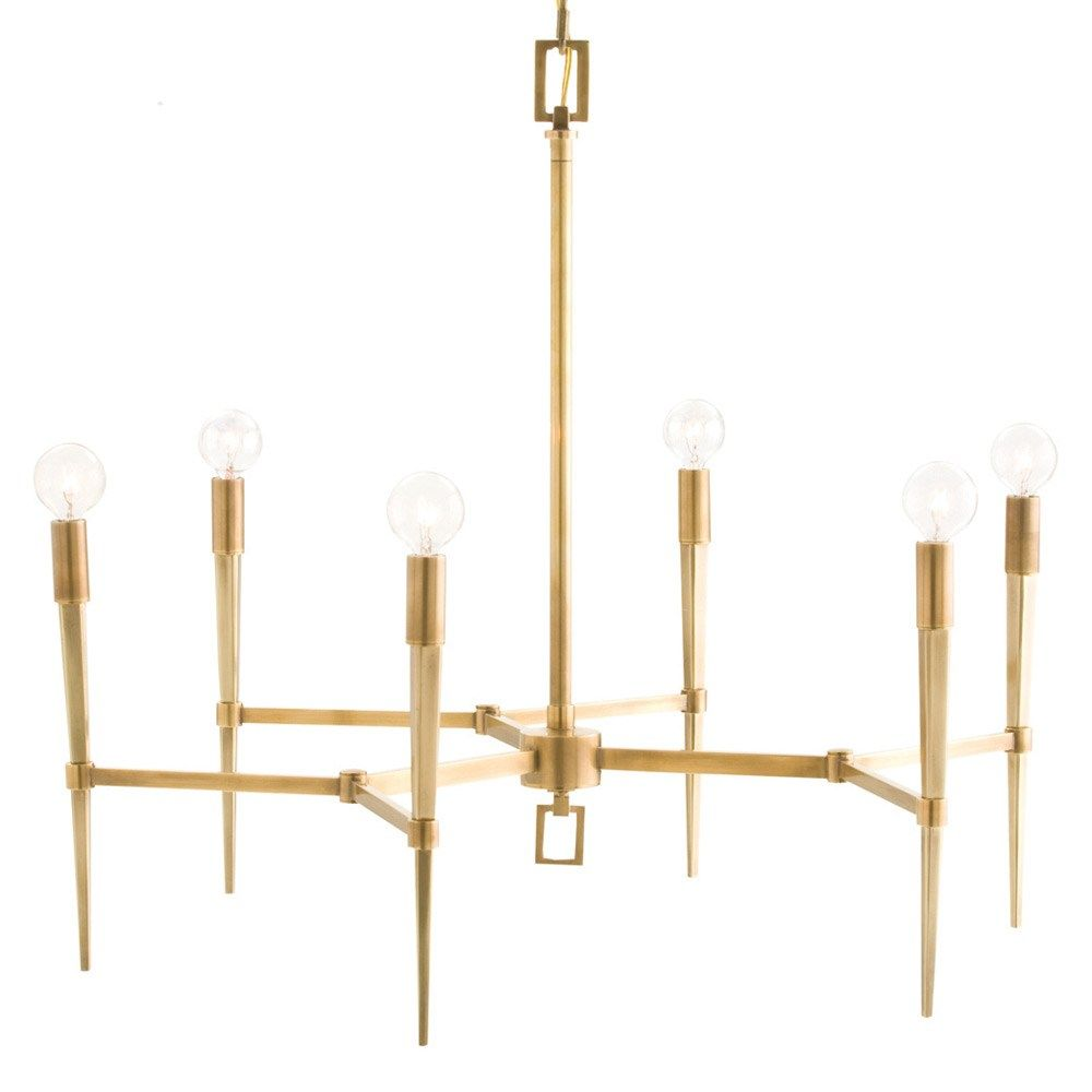 Arteriors auburn antique brass chandelier i need to find a less illuminate your home with the aurora chandelier our lighting options will set the mood in any room arubaitofo Image collections