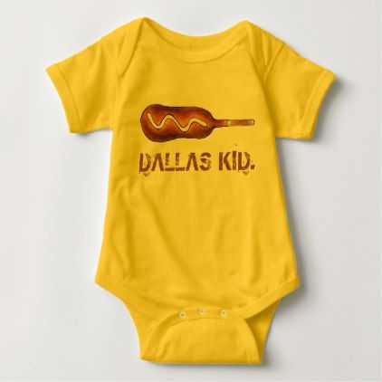 Dallas kid tx texas corndog corn dog mustard baby bodysuit kids dallas kid tx texas corndog corn dog mustard baby bodysuit kids kid child gift idea negle