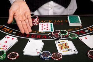 Casino blackjack layouts