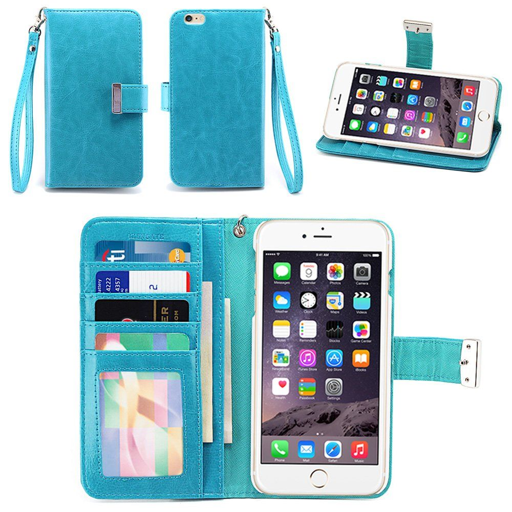 new product 83ea3 4947b Amazon.com: IZENGATE Apple iPhone 6 Plus (5.5 Inch) Wallet Case ...