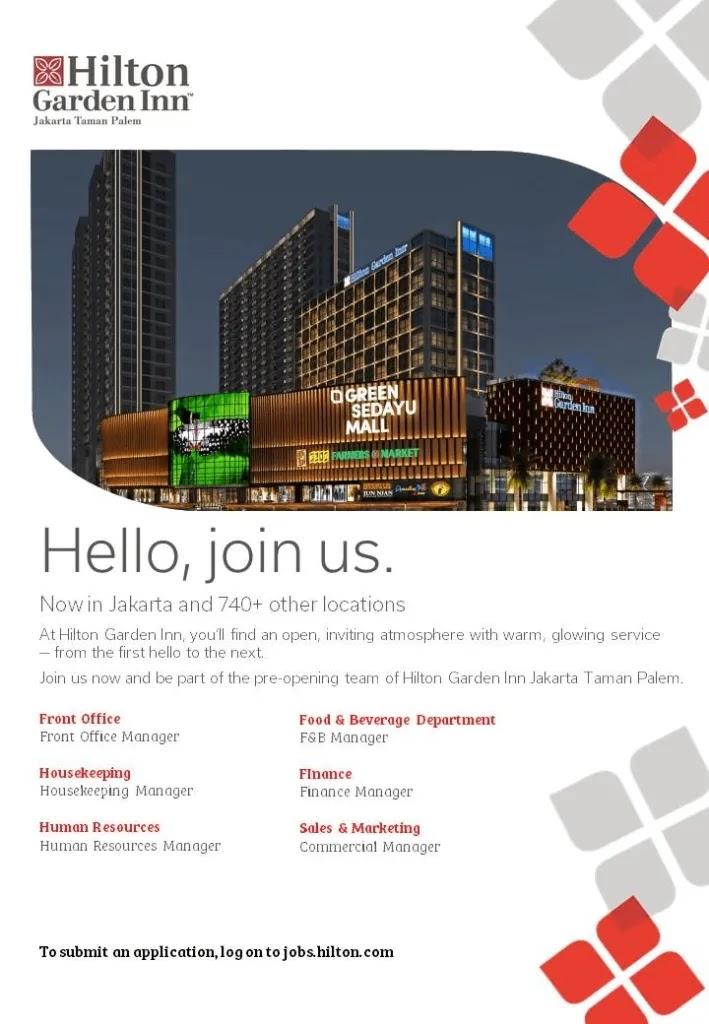 Hilton Garden Inn Jakarta March Hotel Jobs Di 2020 Taman