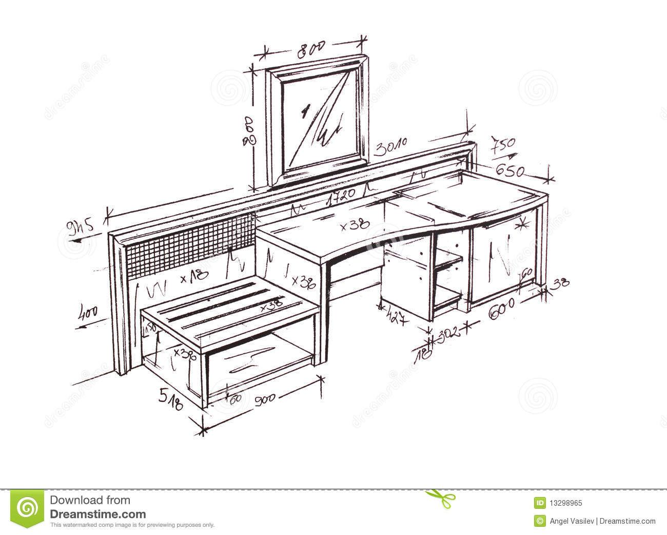 Furniture Design Drawings Interior Design