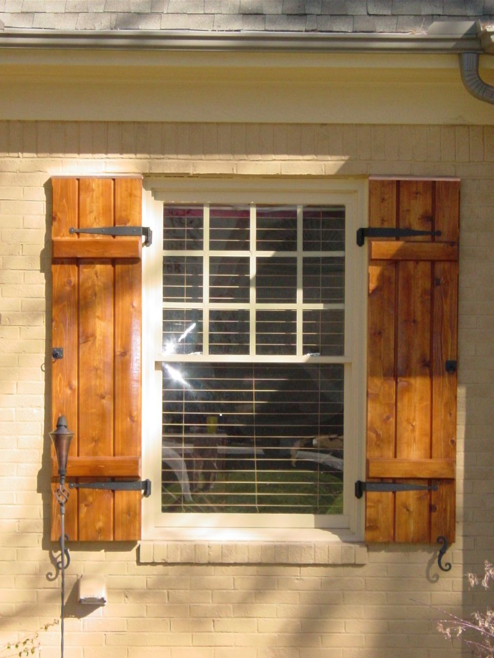 cedar shutters exterior | 864-228-2296 love the hardware | Barn ...