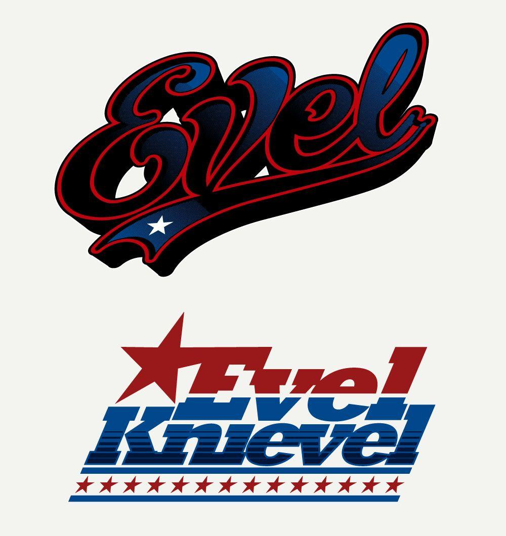 Evel knievel custom lettering by sweyda