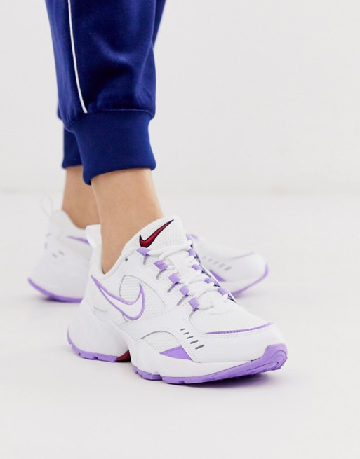 Nike White And Lilac Air Heights Trainers | White nikes