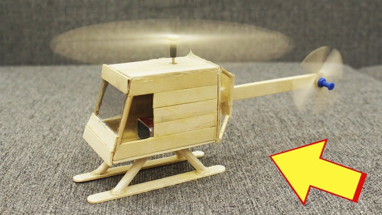 how to make a helicopter with popsicle sticks and motor