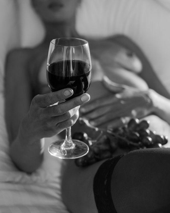 glass Sexy woman wine