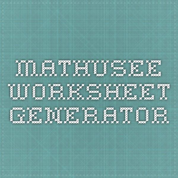 Worksheets Worksheets Worksheet Generator Math U See
