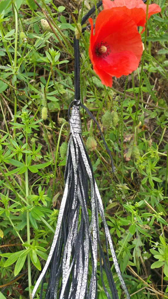 Leather Necklace Boho Necklace Long Tassel by DiliiaBloger on Etsy