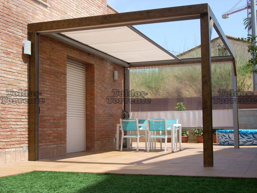 Toldos para terraza planos de veranda terraza pinterest pergolas patios and porch - Pergolas minimalistas ...