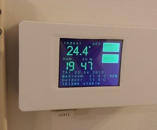 ESP8266 WiFi Touch Screen Thermostat | Home Automation + Security