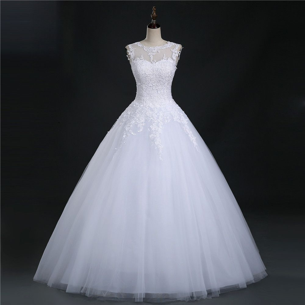 lace white ivory prom gown lace up back wedding dresses