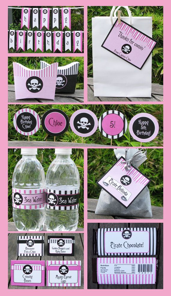 Pirate Party Invitations & Decorations - full Printable Package ...